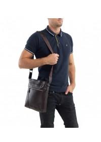 Мессенджер коричневый мужской, кожаный A25-9126C