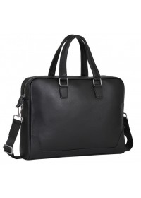 Черная деловая кожаная мужская сумка A25-9905A