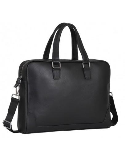 Фотография Черная деловая кожаная мужская сумка A25-9905A