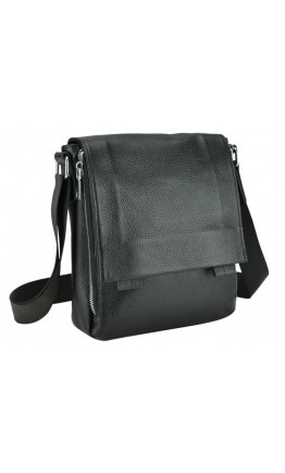 Черная кожаная сумка на плечо A25F-002A