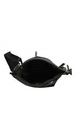 Черная кожаная мужская сумка планшетка A25F-8868A