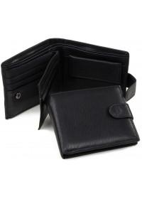 Черное портмоне мужское кожаное A7-677A