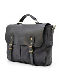 Черная мужская тканево-кожаная сумка Tarwa AG-3960-3md