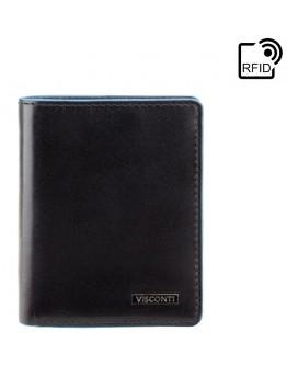 Черный кошелек для мужчины Visconti ALP84 Smith (Italian Black)