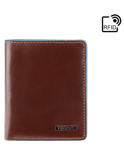 Фотография Коричневый кошелек для мужчины Visconti ALP84 Smith (Italian Brown)