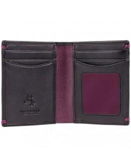 Мужской оригинальный кошелек Visconti AP60 Thun (Black Burgundy)
