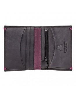 Кожаный мужской кошелек Visconti AP61 Brig (Black Burgundy)