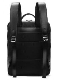 Мужской черный кожаный рюкзак B14822