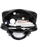Фотография Мужской черный кожаный рюкзак B14822