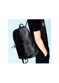 Рюкзак мужской классический черный кожаный B3-012A