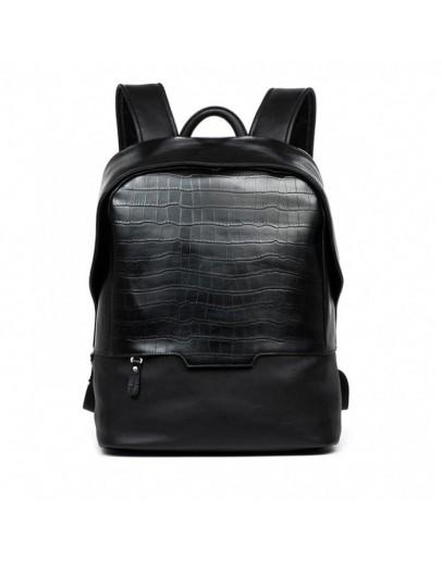 Фотография Черный модный кожаный мужской рюкзак B3-019A