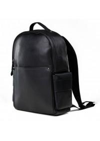 Черный кожаный городской мужской рюкзак B3-034A