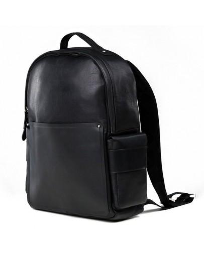 Фотография Черный кожаный городской мужской рюкзак B3-034A