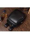 Фотография Черный рюкзак мужской из натуральной кожи B3-058A