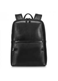 Черный кожаный мужской рюкзак городской B3-103A