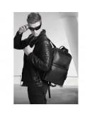 Фотография Черный кожаный мужской рюкзак городской B3-103A
