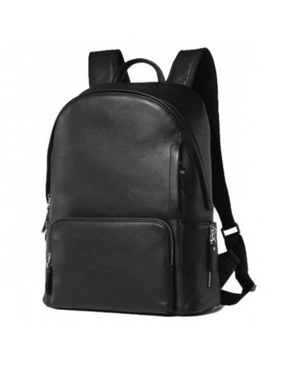 Фотография Мужской черный кожаный рюкзак B3-122A