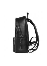 Мужской черный кожаный рюкзак B3-122A