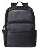Фотография Небольшой черный кожаный рюкзак для мужчины B3-153A