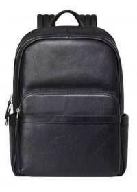 Небольшой черный кожаный рюкзак для мужчины B3-153A