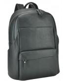 Фотография Черный кожаный мужской вместительный рюкзак B3-161A