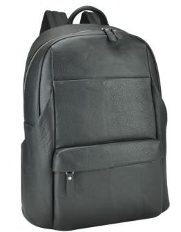 Черный кожаный мужской вместительный рюкзак B3-161A