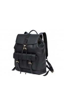 Кожаный черный мужской рюкзак B3-1653A