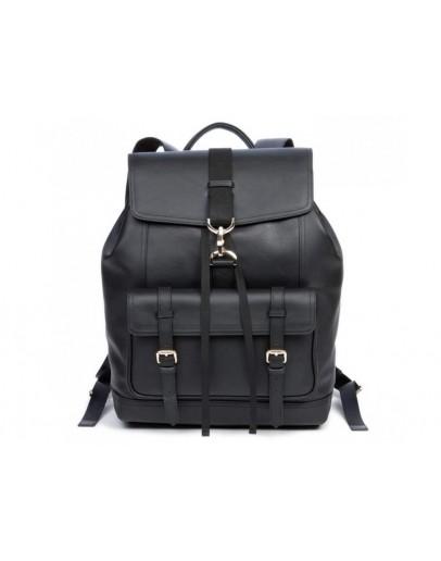 Фотография Кожаный черный мужской рюкзак B3-1653A