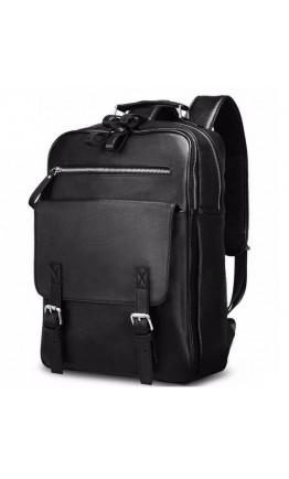 Рюкзак для мужчин черного цвета из натуральной кожи B3-1691A