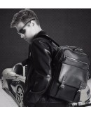 Фотография Рюкзак для мужчин черного цвета из натуральной кожи B3-1691A