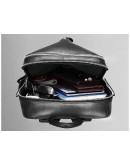 Фотография Мужской кожаный рюкзак черного цвета B3-1692A
