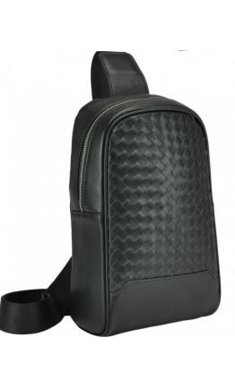 Черный мужской кожаный слинг на плечо B3-1700A