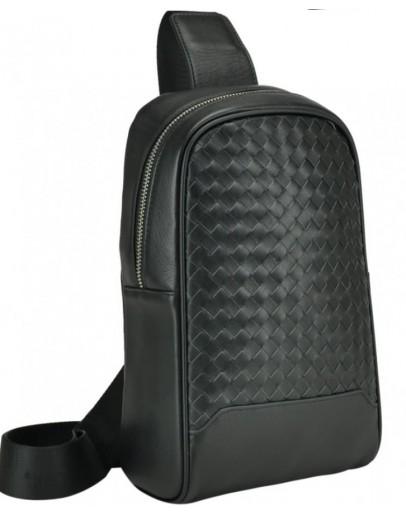 Фотография Черный мужской кожаный слинг на плечо B3-1700A