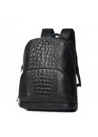 Черный кожаный рюкзак мужской с тиснением B3-1716A