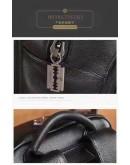 Фотография Черный кожаный рюкзак мужской с тиснением B3-1716A