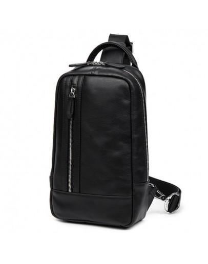 Фотография Мужской кожаный рюкзак - слинг B3-1725A
