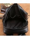 Фотография Стильный кожаный черный мужской рюкзак B3-1741A