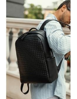 Стильный кожаный черный мужской рюкзак B3-1741A