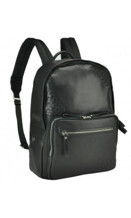 Деловой мужской черный кожаный рюкзак B3-1746A
