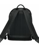 Фотография Деловой мужской черный кожаный рюкзак B3-1746A
