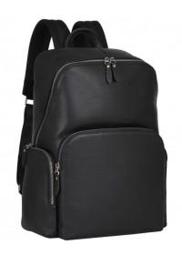 Мужской черный рюкзак кожаный B3-181A