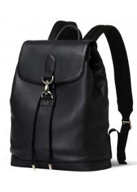 Мужской удобный черный кожаный рюкзак B3-1899A