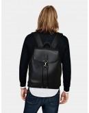Фотография Мужской удобный черный кожаный рюкзак B3-1899A