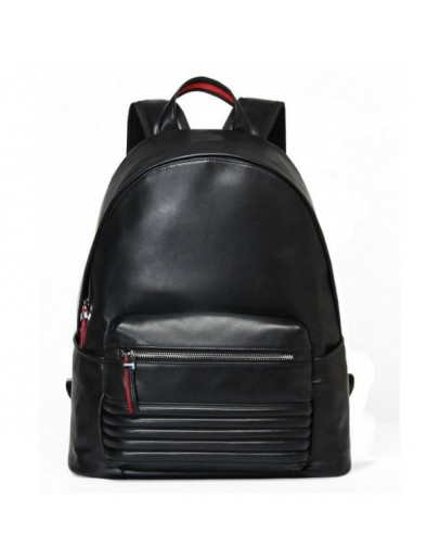 Фотография Кожаный стильный черный мужской рюкзак B3-2001A