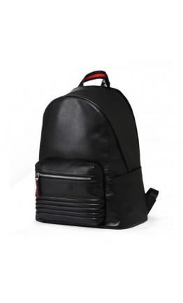 Кожаный стильный черный мужской рюкзак B3-2001A