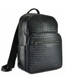 Фотография Черный мужской кожаный деловой рюкзак B3-8601A
