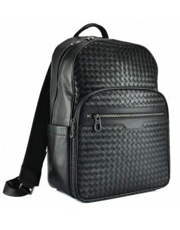 Черный мужской кожаный деловой рюкзак B3-8601A