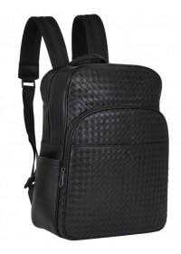 Черный удобный мужской кожаный рюкзак B3-8603A