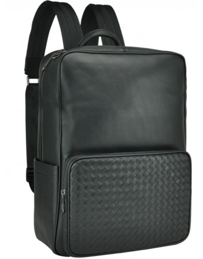 Фотография Мужской кожаный рюкзак черного цвета B3-8605A
