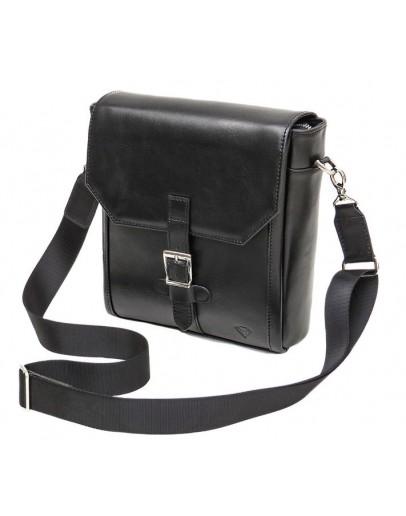 Фотография Мужская кожаная сумка на плечо BLACK DIAMOND BD51A